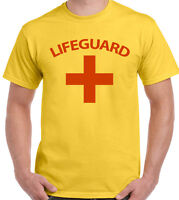 Lifeguard T-Shirt Mens Fancy Dress Costume Outfit Lifesaver Baywatch Surfing