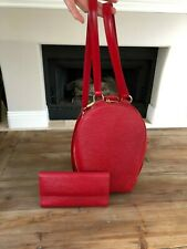 LOUIS VUITTON MABILLON BACKPACK BAG PURSE RED EPI LEATHER WITH MATCHING WALLET!