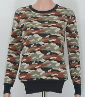French Connection #2046 NEW Women's Long Sleeve Camo Crewneck Knit Jumper Top