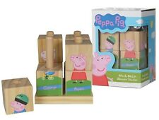 Peppa Pig Toys - Wooden Building Blocks Puzzle