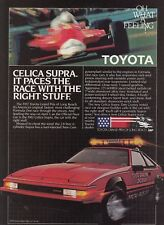 "1982 Toyota Celica Supra Coupe photo ""It Paces the Race"" vintage promo print ad"