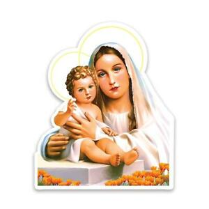 Gift Sticker : Our Lady Mary with Baby Jesus Catholic Virgin Mother of God