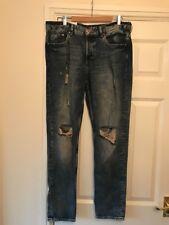 """Bnwt Hommes H&M coupe Boyfriend Jeans 30/taille 34 mesures 18"""" à travers"""