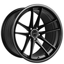 4 20 Staggered Vertini Wheels Rfs15 Matte Black With Gloss Black Lip B1 Fits 2012 Jeep Grand Cherokee