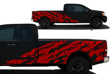 Custom Vinyl Decal Shred Wrap Kit for Nissan Titan Truck 2004-2013 Long Bed RED