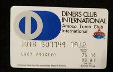 Diners Club International Amoco Torch Club credit card exp 1981 cc400