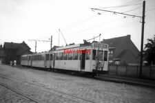PHOTO  BELGIUM TRAM 1958  LONDERZEEL SNCV 3-CAR STANDARD TRAM  TRAIN WITH MOTOR