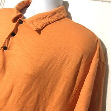 Nike Tiger Woods Collection Dri-Fit Golf Polo Mens Orange Shirt Size XL