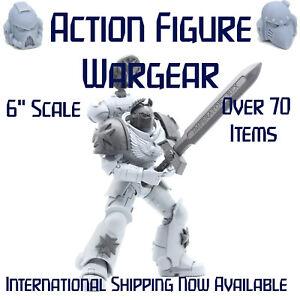 """Space Marine Custom Warhammer 40K McFarlane Action Figure Weapons Helmet Head 6"""""""