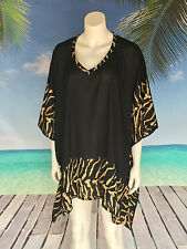Rayon Animal Print Casual Plus Size Tops & Blouses for Women
