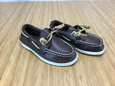 Sperry Top Siders VO Boys Size 10M Brown Leather Boat Shoes Loafers Dock CH25
