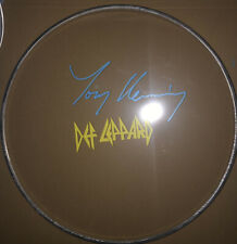 More details for tony kenning   **hand signed**  drumhead  ~  autographed  ~  def leppard