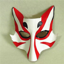 Japanese Style Leather Fox Kitsune Cosplay Mask Masque for Party Halloween