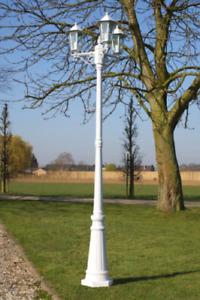 Tall Garden Lamp Post Outdoor White Light Metal Victorian Style Path Triple Head