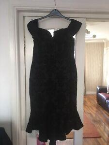 Womans Bnwt Quiz Off Shoulder Bodycon Fishtail Dress Size 16