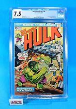 The Incredible Hulk #180 Marvel Comics 1974 CGC Universal Grade 7.5 WOLVERINE