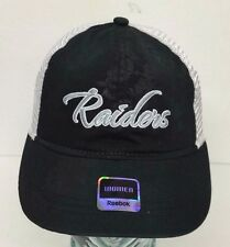Oakland Raiders NFL Women's Aloha Mesh Trucker Adjustable Reebok Hat Cap NWT Os
