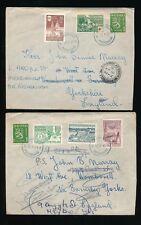 FINLAND 1951 MULTI FRANKINGS to GB BARNSLEY + REDIRECTED...PIETARSAARI
