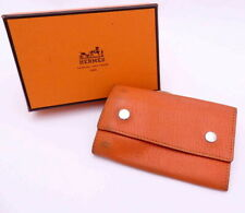 AUTHENTIC Hermes Orange Leather Key Holder Key Case IN BOX