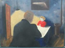 Genevieve Zondervan b.1922 French Modernism The Interview Large Oil
