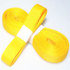 "5yds 3/8"" (10 mm) Deep-Yellow Solid Christmas Grosgrain Ribbon Hair Bows Ribbion"