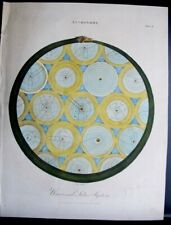 """Original 1798 Hand Colored Engraving ASTRONOMY SOLAR SYSTEM by J Pass 11"""" X 8"""""""