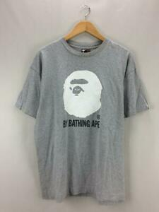 A BATHING APE x KAWS T-Shirt Gray Cotton Size XL Used From Japan