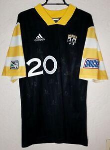 MLS Columbus Crew Adidas 1998 Brian  McBride Home Soccer Jersey