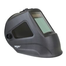 MATTE CARBON FIBER Extra Large View Auto Darkening Welding Helmet with SIDE VIEW
