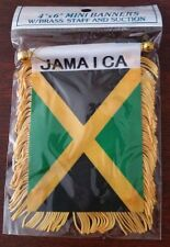 JAMAICA Mini Banner Flag Great For Car & Home Window Mirror Hanging 2 Sided