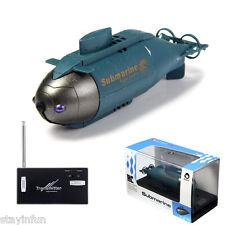 Mini RC Boats Radio Remote Control Wireless Submarine Pigboat Model Toys Blue