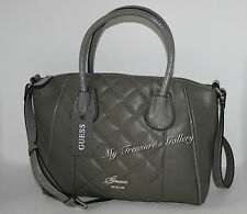 NEW Guess San Jose Dome Satchel Handbag Shoulder Bag Purse Grey, NWT