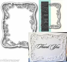 Memory Box dies TWIRLING VINE FRAME metal cutting die 98299 rectangle,wedding