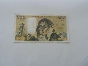 billet 500 francs pascal 1980 a.112