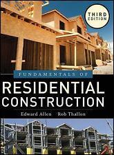 Fundamentals of Residential Construction, Allen, Edward, Schreyer, Alexander C.,