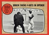 1968 Topps #151 Lou Brock GOOD+ CREASE HOF St. Louis Cardinals FREE SHIPPING