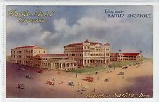RAFFLES HOTEL, SINGAPORE: Poster type advertising postcard (C18253)
