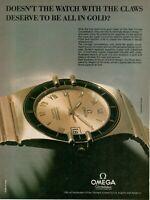 1983 Original Advertising' Omega Watch Constellation Chronometer Quartz Gold