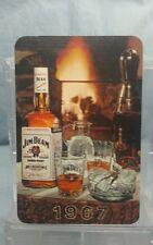 Vintage Advertising Pocket Wallet Calendar Card: 1967 JIM BEAM WHISKEY