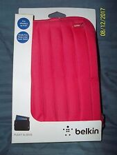 """Belkin Pleated Kindle Fire Sleeve RED Case Cover Tablet FITS E READERS 8"""""""