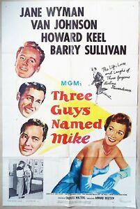 Three Guys Named Mike 1951 Jane Wyman, Van Johnson  Howard Keel  Barry Sullivan