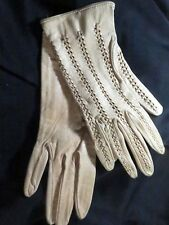 Gorgeous Hand Laced cutwork Vintage Gloves from France 1950's