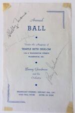 Benny Goodman, Bernie Leighton, Shelly Manne Signed Page JSA Certificate