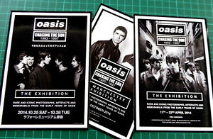 OASIS, The Exhibition, Set of 3 Large Glossy Vinyl Promo Stickers, Manchester..