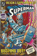 SUPERMAN 1993 DC Reign of The Supermen June No. 22 VF incl Man Of Steel Poster
