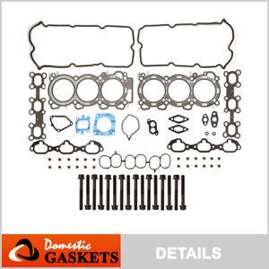 Fits 00-01 Infiniti I30 Nissan Maxima 3.0L DOHC Head Gasket Set Bolts VQ30DE