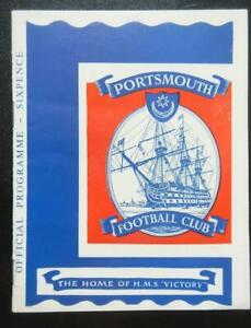 PORTSMOUTH v DERBY COUNTY - 1963/64 - League Cup 2nd Round