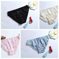 Size:M L XL Women's 100% Real Silk Soft Briefs Bikinis Underwear Panties