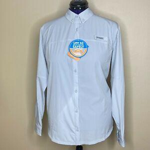 Columbia Women's PFG Long Sleeve Shirt Size 1X New - Blue Coral
