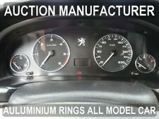 Peugeot 406 1999-2004 Anillos Pulidos de Aluminio Decorativo a los indicadores